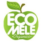 eco mele organic fruit logo
